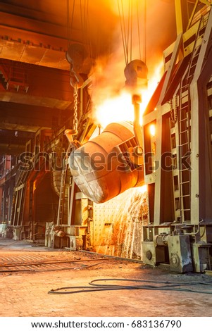 Blast furnace smelting liquid steel in steel mills #683136790
