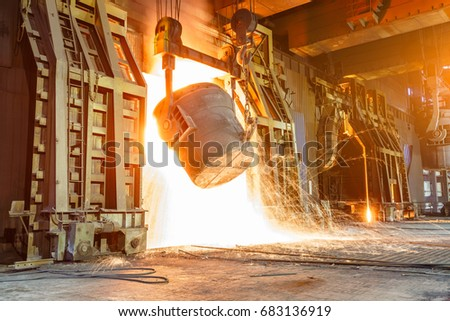 Blast furnace smelting liquid steel in steel mills #683136919