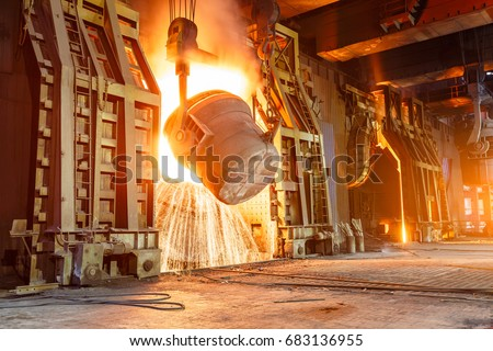 Blast furnace smelting liquid steel in steel mills #683136955