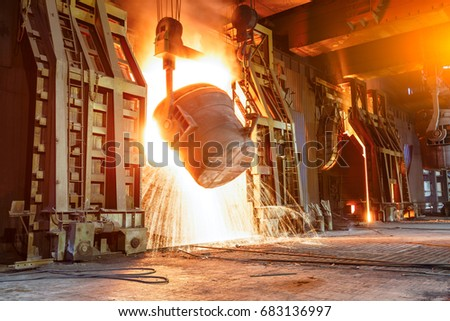 Blast furnace smelting liquid steel in steel mills #683136997