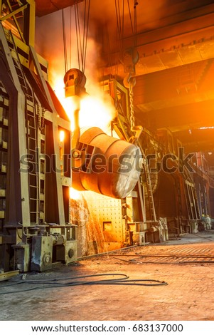 Blast furnace smelting liquid steel in steel mills #683137000