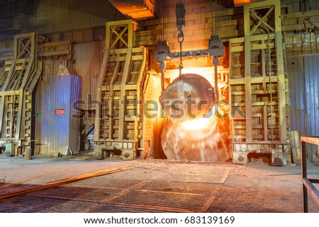 Blast furnace smelting liquid steel in steel mills #683139169