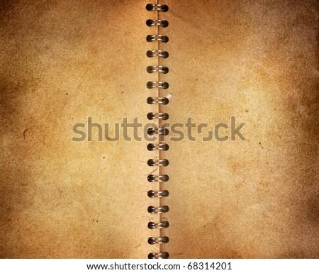 vintage notebook background Royalty-Free Stock Photo #68314201