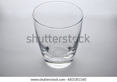 Clear empty glass isolated #683181160