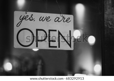 Yes, we are OPEN #683292913