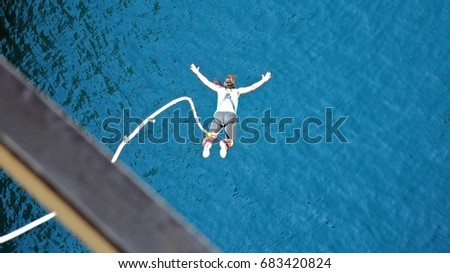 bungee jumping in the channel of Corinth #683420824