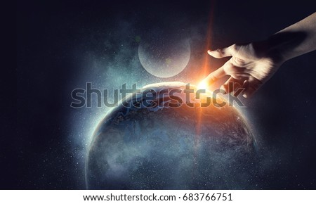 Concept of creation Royalty-Free Stock Photo #683766751