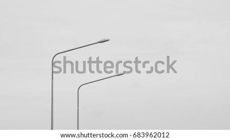 street lamp post - monochrome #683962012