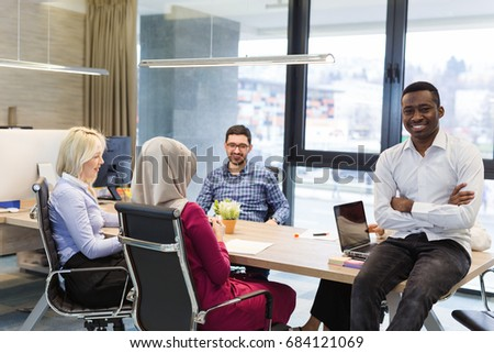 Businesspeople on Meeting #684121069