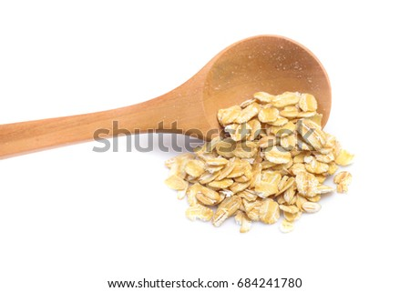 oats, oatmeal isolated on white background #684241780