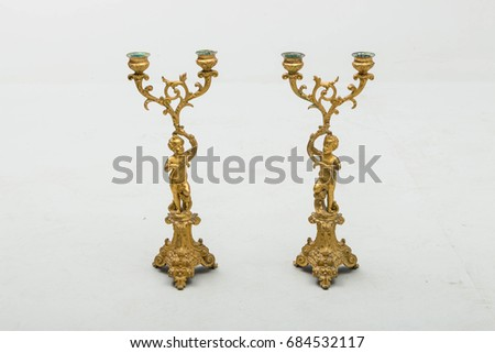 Sculptures – figurines Candlesticks antique #684532117