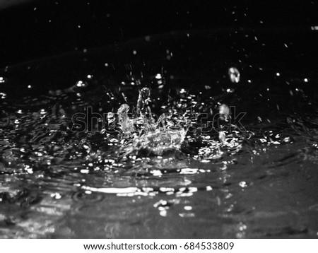 Water Splash on Black Background. #684533809