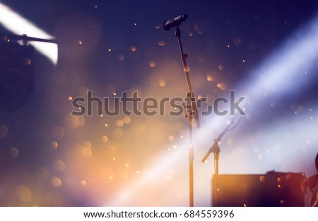 Microphone in stage lights #684559396