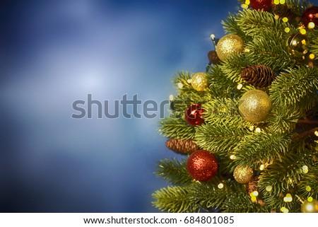 Closeup of Christmas-tree background #684801085