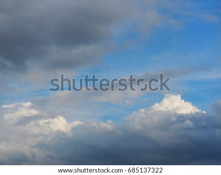 Clouds and sky #685137322
