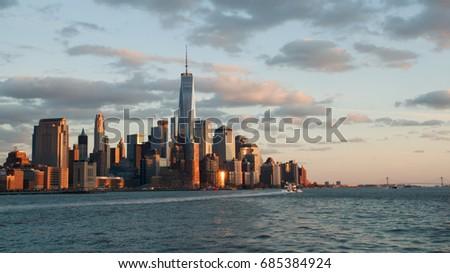 NYC sunset #685384924