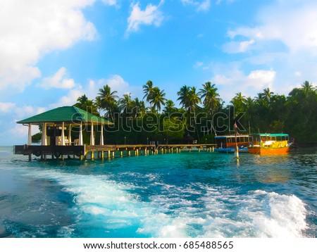 Embudu Village Island, Maledives, Indian Ocean #685488565