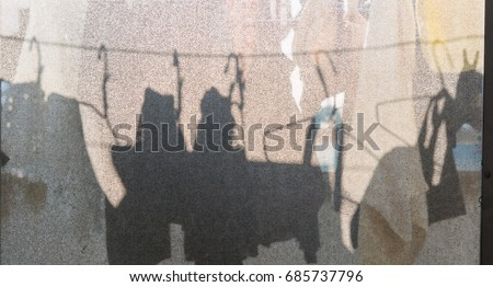 Abstract Background of Shadows on Fabric #685737796