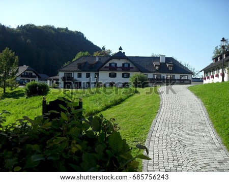 Traditional Austrian countryside  #685756243