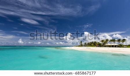 Prickly Island in Anguilla Beach, Caribbean #685867177