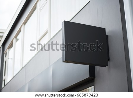 outdoor business building logo signboard on wall template