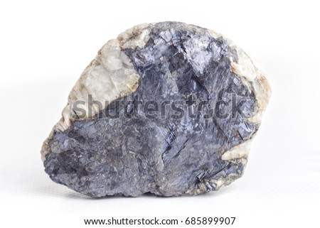 Molybdenite on white background. #685899907