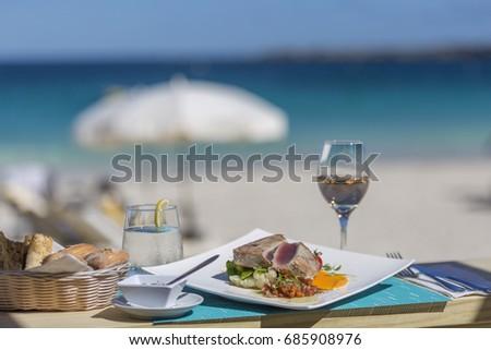 Best Food in St Martin Sint Maarten Beaches in Caribbean  #685908976