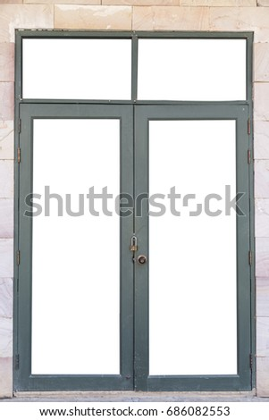 Glass Door with clipping path. #686082553