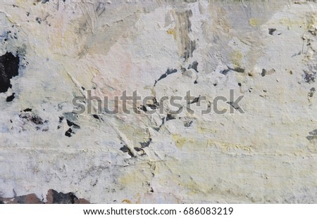 Art abstract background. Acrylic on fiber. Brushstrokes of paint. Wall textures. #686083219