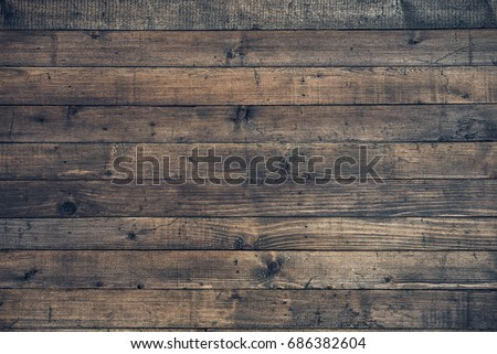 Dark Brown Wooden Background. Vintage Wood texture. Copy space Royalty-Free Stock Photo #686382604