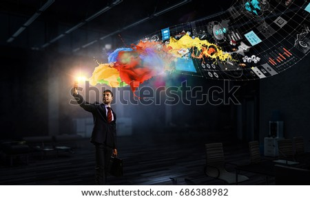 Impressive multimedia technologies. Mixed media #686388982