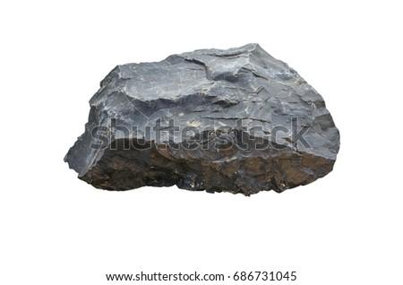 stones isolated on white background.Big granite rock stone.rock stone isolated on white background. #686731045