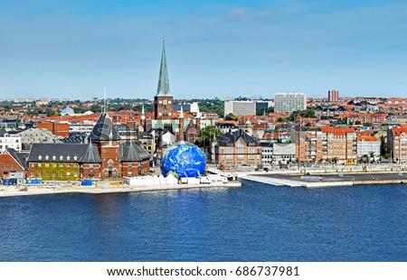 Cityscape of Aarhus in Denmark   #686737981
