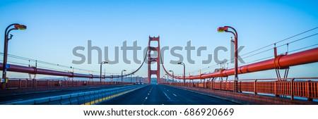 golden gate bridge early morning in san francisco california #686920669