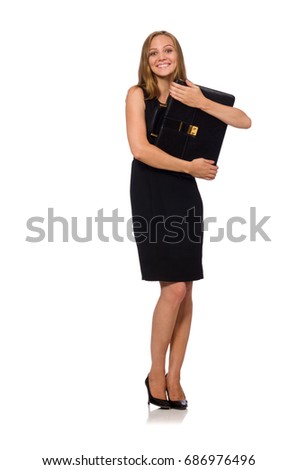 Woman businesswoman concept isolated white background #686976496
