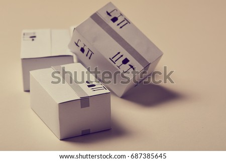 delivery packaging boxes #687385645