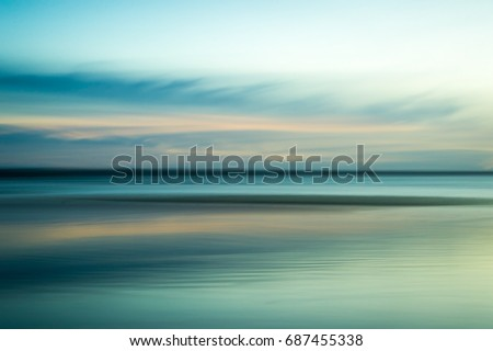 Calming, serene ocean abstract Royalty-Free Stock Photo #687455338