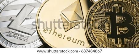 cryptocurrencys new digital money Royalty-Free Stock Photo #687484867