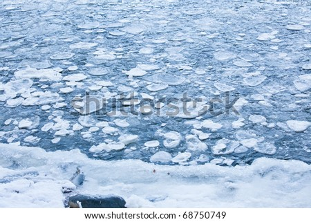 Ice in sea #68750749