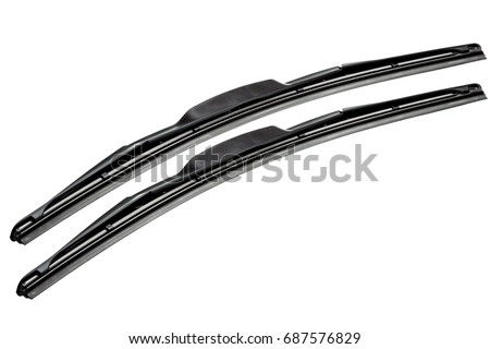 windshield wipers for cars isolated on a white background. Royalty-Free Stock Photo #687576829