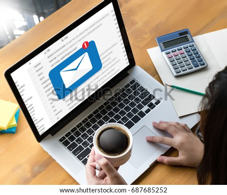 Mail Communication Connection message to mailing contacts phone Global Letters Concept #687685252