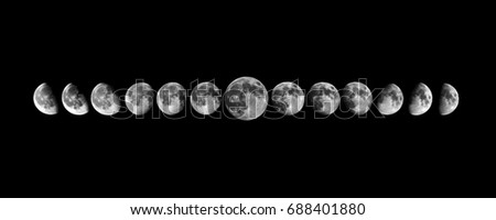 This picture describes the moon phases from waxing to full moon and waning gibbous.