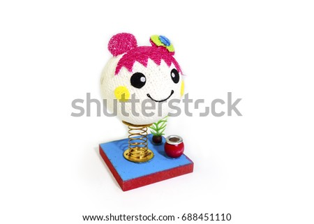 Doll pen holder, isolated on white background #688451110
