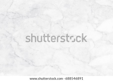 White marble texture with natural pattern for background or design art work. #688546891