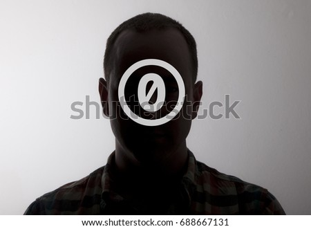Image of anonymous man depicting creative commons zero icon