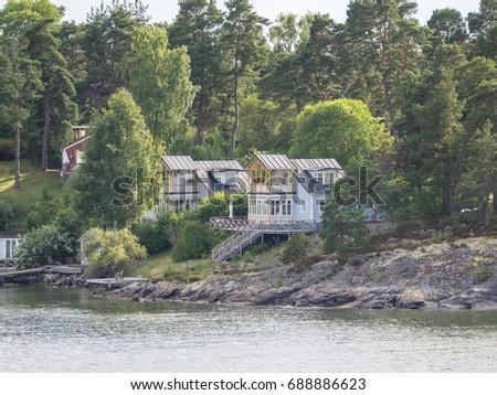 wonderful landscape in sweden #688886623