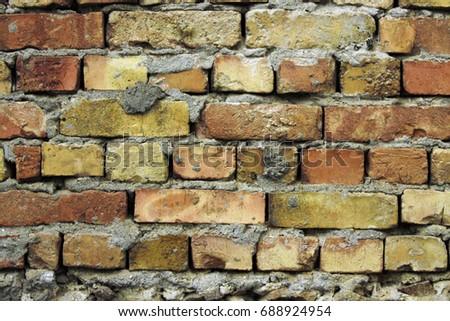 Colored brick wall a little more #688924954