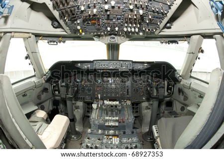 aircraft instrument and control panel #68927353