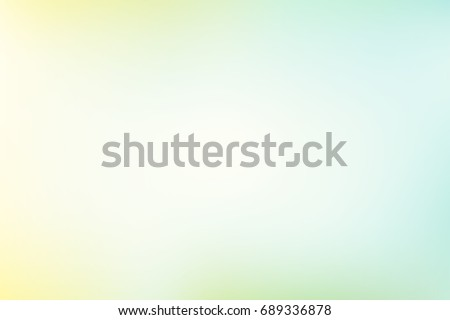Abstract pastel colorful background vector. Smooth green and soft blue and yellow blending color.