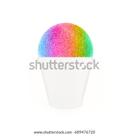 Snow Cone, Shaved Ice - rainbow flavors